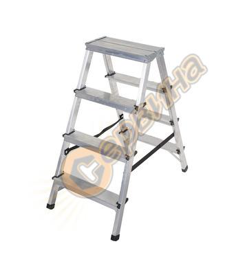 Двустранна алуминиева стълба Drabest 03080024 - 2Х4бр