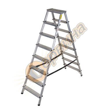 Двустранна алуминиева стълба Drabest 03082800 - 2Х8бр