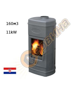 Камина-печка-пещ на твърдо гориво без водна риза Plamen AURO