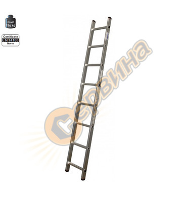 Професионална еднораменна алуминиева стълба Krause Corda 010