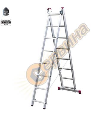 Професионална двураменна алуминиева стълба Krause Corda 0102