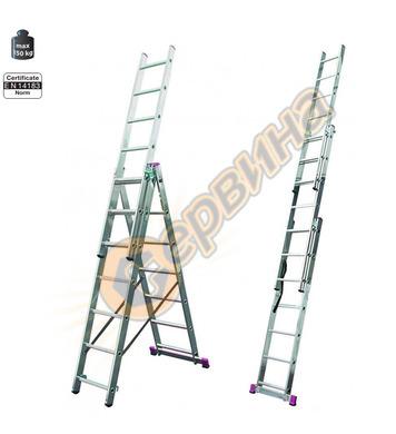 Професионална трираменна алуминиева стълба Krause Corda 0133