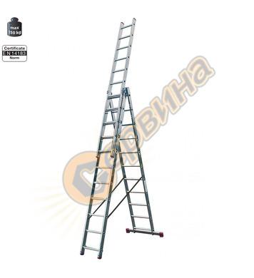 Професионална трираменна алуминиева стълба Krause Corda 0134