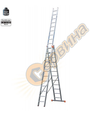Професионална трираменна алуминиева стълба Krause Tribilo 12