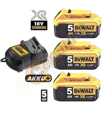 Комплект акумулаторни батерии и зарядно DeWalt DCB115P3 - 18