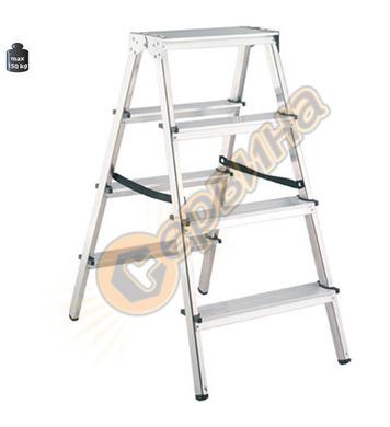 Двустранна алуминиева домакинска стълба Alpos 33-04 39444 -