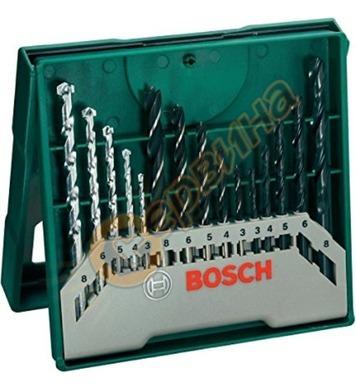 Комплект свредла за дърво 15 части Bosch Mini X-Line 2607019