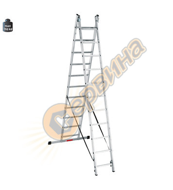 Професионална двураменна алуминиева стълба Alpos Expert 40-1