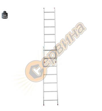 Професионална двураменна алуминиева стълба Alpos Ratio 46-11