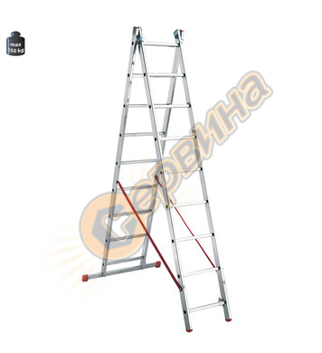Професионална двураменна алуминиева стълба Alpos Ratio 47-07