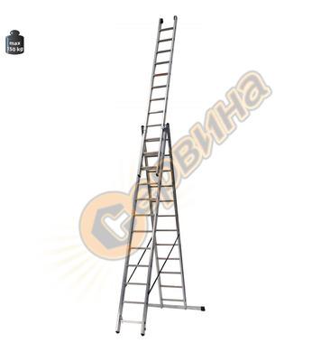 Професионална трираменна алуминиева стълба Alpos Expert 38-1