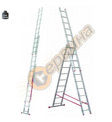 Професионална трираменна алуминиева стълба Alpos Ratio 44-10