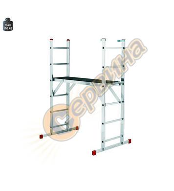 Алуминиева стълба с платформа Alpos Ratio 43-06 904224 - 2х6