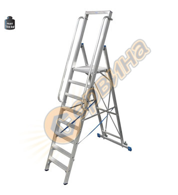 Професионална алуминиева складова стълба с платформа Krause