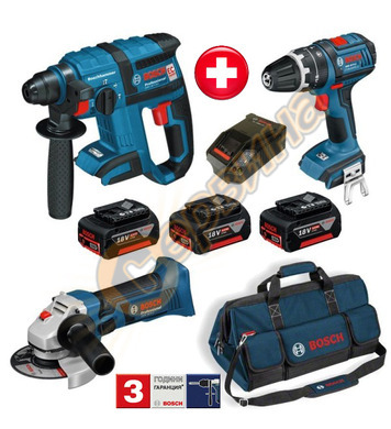 Акумулаторен перфоратор Bosch GBH 18 V-EC 0615990GT2 + Акуму