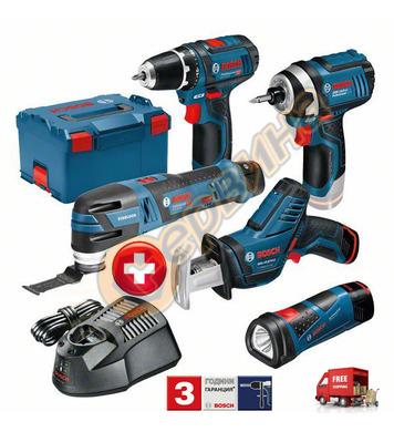 Комплект акумулаторни машини Bosch GSR 12V-15,GOP 12V-28,GLI