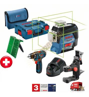 Линеен лазерен нивелир Bosch GLL 3-80 CG 06159940L3 + Акумул