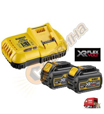Комплект акумулаторни батерии и зарядно DeWalt DCB118T2 - 18