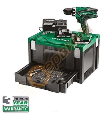 Акумулаторен ударен винтоверт - бормашина Hitachi DV18DJL-WK