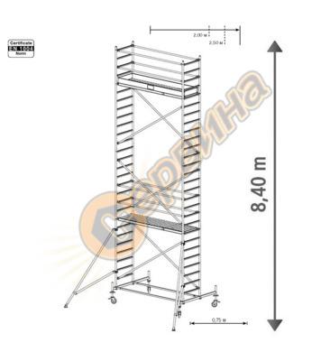 Подвижно алуминиево скеле Krause Stabilo 10 731357 - 8.40 м