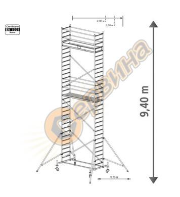 Подвижно алуминиево скеле Krause Stabilo 10 731364 - 9.40 м