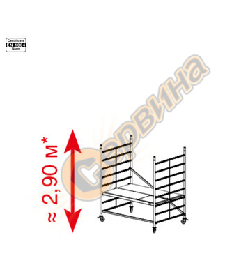 Подвижно алуминиево скеле Krause ProTec XXL 911117 - 2.90 м