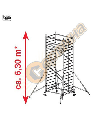 Подвижно алуминиево скеле Krause ProTec XXL 911148 - 6.30 м