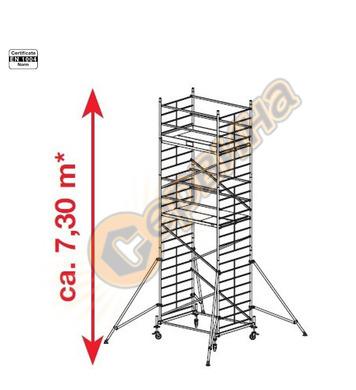 Подвижно алуминиево скеле Krause ProTec XXL 911155 - 7.30 м