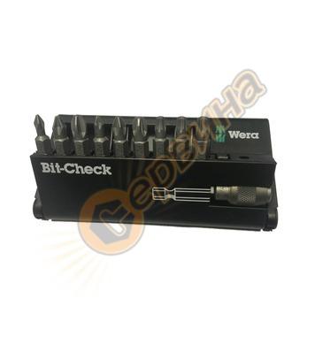 Комплект накрайници Wera Bit-Check 9 134493 - 10бр