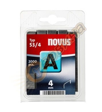 Кламер от тънка тел Novus A тип 53/4мм 2000бр блистер 042-03