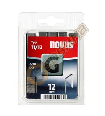 Кламер от плоска тел Novus G тип 11/12мм 600бр блистер 042-0