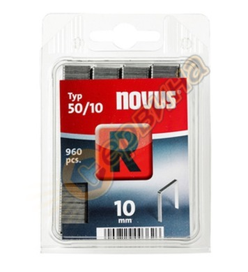 Кламер от плоска тел Novus R тип 50/10мм 960бр блистер 042-0