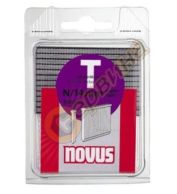 Пирони за такер Novus T тип N/14мм 1000бр блистер 044-0071