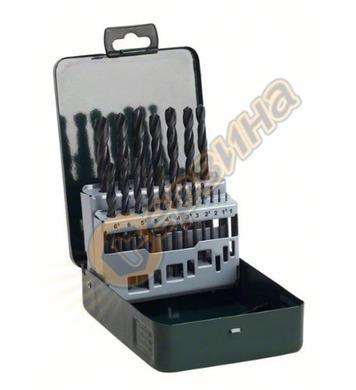 Комплект свредла за метал HSS R Bosch 2607019435  - 19броя