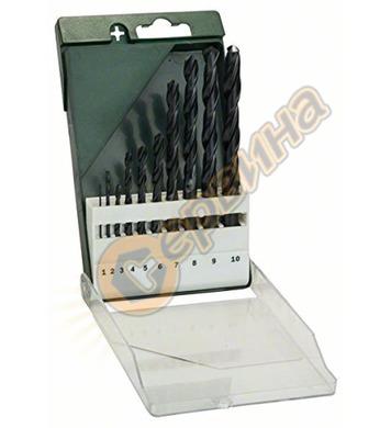 Комплект свредла за метал HSS R Bosch 2609255030  - 10броя