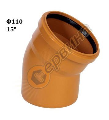 ПВЦ коляно-дъга Pestan 10401362 - ф110-15°