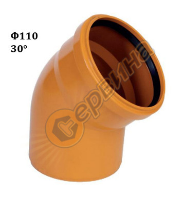 ПВЦ коляно-дъга Pestan 10401020 - ф110-30°