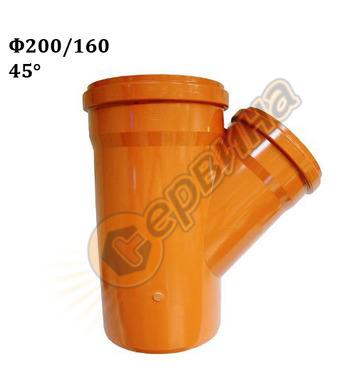 ПВЦ разклонител Pestan 10401438 - ф200х160-45°
