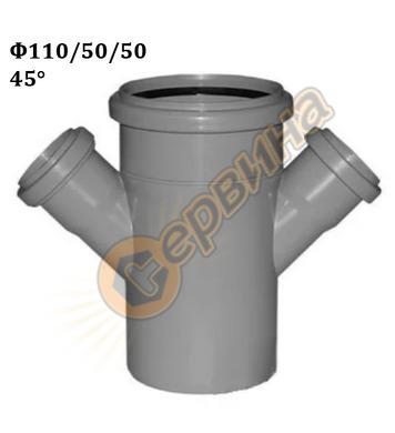 Полипропиленов разклонител Pestan 10201538 PP - ф110х50x50-4