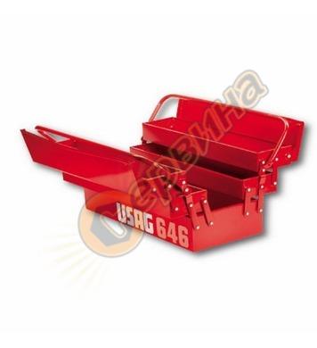 Метален куфар за инструменти Usag 646 U06460301 - 585 мм
