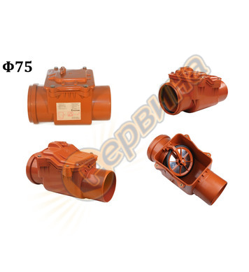 Възвратен вентил за канализация Pestan 10202501 PP - ф75