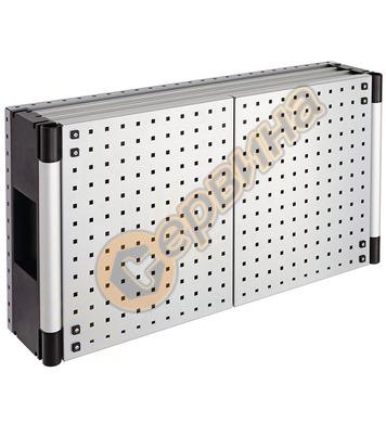 Перфориран метален шкаф за инструменти с гръб за стелаж Wolf