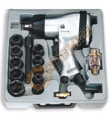 Комплект пневматичен гайковерт с вложки Fervi 0044 - 1/2-320