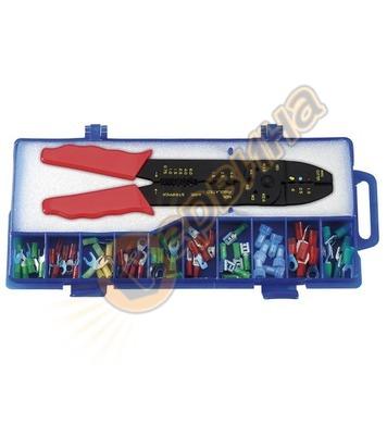 Кербовъчни клещи за изолирани кабели Fervi 0122