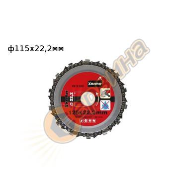 Верижен диск Krafter KR13-2080 115x22,2мм - дърво, дървесина