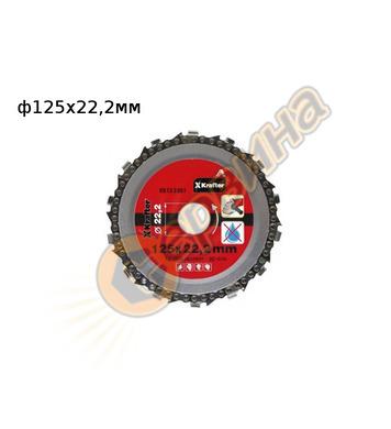 Верижен диск Krafter KR13-2081 125x22,2мм - дърво, дървесина