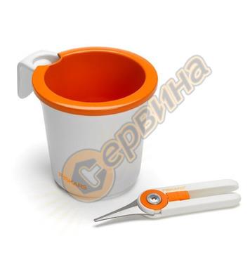 Комплект саксия и ножица за билки Fiskars 111825