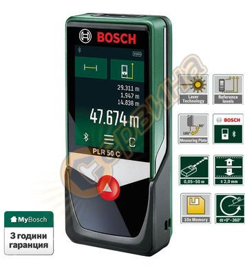 Лазерна ролетка с тъчскрийн Bosch PLR 50 C 0603672220 - 50м