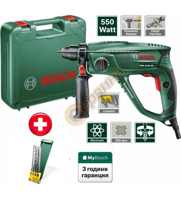 Перфоратор Bosch PBH 2100 RE 06033A9302 + свредла