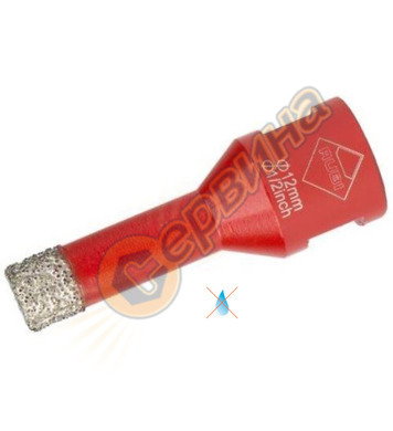 Kit-боркорона за керамика Rubi 05991 - ф12мм